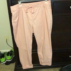 Pink Drawstring Pants